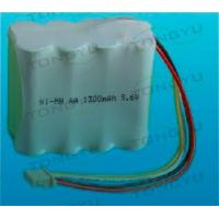 9.6V AA NiMh Rechargeable Battery , Ni-Mh 1300mAh Battery Pack For Electric Tools