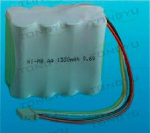 China 9.6V AA NiMh Rechargeable Battery , Ni-Mh 1300mAh Battery Pack For Electric Tools on sale