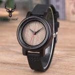 Business Sandal Case Wooden Wrist Watch With Leather Strap 30M Waterproof