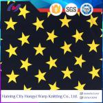 Star Pattern Printed Stretch Fabric Spandex Polyester Knit Swim Sports Fabric