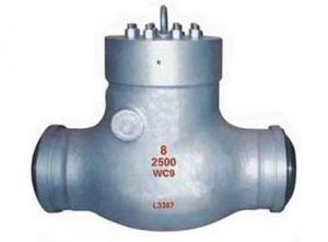 China ANSI 2500 LB Weighted Disc Type Check Valve Horizontal Butt Welded on sale
