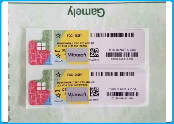 COA STICKER Windows 7 Product Key Code 32 Bit OEM
