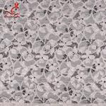 Fashion Swiss Lace Fabric 140cm Width / Embroidered Bridal Lace Fabric