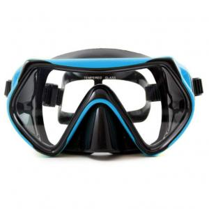 China Diving Mask Scuba Snorkel Set Anti-fog Tempered Glass Lenses Adjustable Soft Silicone Strap for Adults and Youth on sale
