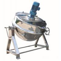 Food Industry Stainless Steel Steam Jacketed Kettle With Mixer / Scraper