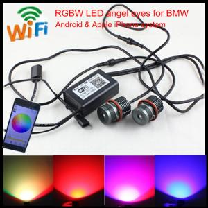 China Mobile Wifi control colors change E60 E39 20W LED RGBW angel eyes for BMW E39 E60 E87 on sale