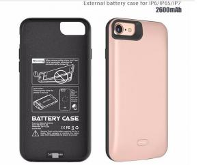 China newest rechargeable Portable Power case power bank backup External battery case for iPhone 6 6s 7 on sale