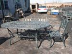 Open Air Balcony Courtyard Cast Iron Garden Table And Chairs Modern Leisure