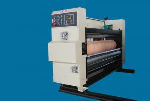 Quality High Precision Alloy Steel Flexo Printer Slotter Machine Automatic Carton for sale