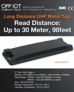 China Choose OPP130 Metal Mount RFID tag for its long read range and low profile on sale