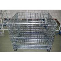 Galvanized Plating Folding Wire Mesh Cage For Goods Storage In Warehouse