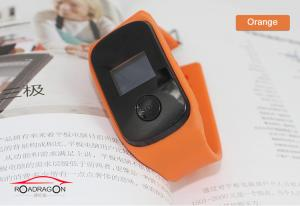China Orange Bracelet Wrist Watch GPS Tracker Hand Held With Four Band Network on sale