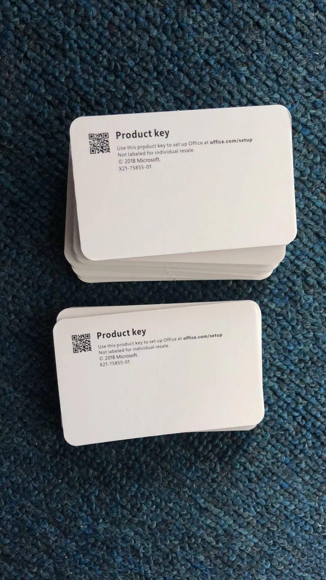 microsoft office 2019 key card