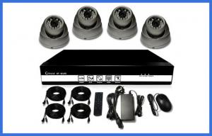 China H.264 HD POE CCTV Camera Kits , Metal Dome Camera Support Mobile on sale