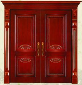 China Double leaf Exterior solid core door on sale