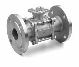 China ASME  150# 3PC Flange ISO 5211 Stainless Steel Ball Valve High Performance ANSI RPTFE PPL RF CF8M on sale