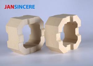 China Low Creep Reheating Furnace Zirconia Bricks Heat Proof Dense Crystal Structure on sale