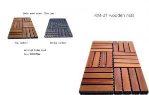 China Steam room accessories , 30x30cm Plastic/ wooden anti-slip floor mat on sale