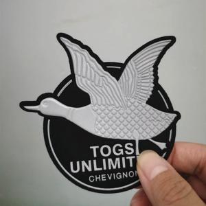 China 3D Logo Iron On TPU Custom Jean Jacket Patches on sale