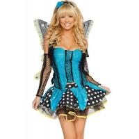 China Blue Garden Butterfly  Halloween Adult Costumes Customized For Carnival Dance on sale