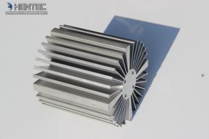 China 6060 - T5  aluminium heat sink profiles with finished machining , anodized on sale