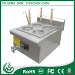 Counter top noodle cooker with 4 baskets