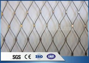 China Factory AISI 316 X-Tend Stainless Steel Cable Wire Mesh For Exhibition Protection on sale