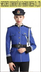 China Blue Female Police Uniform / Police Woman Uniform Costume 100% Wool on sale