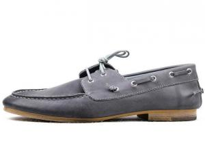 China Burnished Cowhide Leather Classic Men's Handsewn Boat Shoes Loafer shoes Slip on shoes on sale