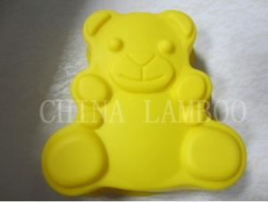 China teddy bear silicone cake mould on sale