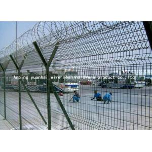 China Y Post Welded Airport Security Fencing Square Hole Shape Low Carbon Iron Wire on sale