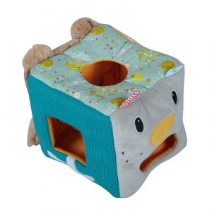 China Eco Friendly Stuffed Animal Tissue Box Square Shape Embroidery Logo on sale