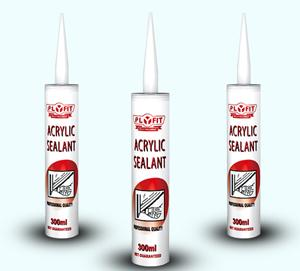 China Acrylic  paintable  and  flexible Silicone Sealant Adhesive for skirting board on sale