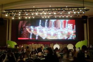 China Light weight LED curtain display Screen P16 1000 nit for night club , background on sale