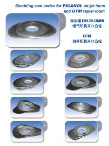 China Customized Loom Cam Shedding Cam 2/2, 21/21 FOR PICANOL Air-jet loom and GTM Rapier Loom on sale