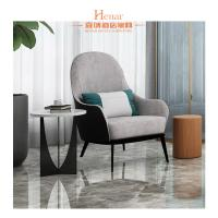 Medium Back Luxury Royal Salon Modern Lobby Furniture / Comfortable Lounge Chairs