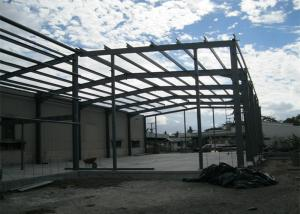 China Single Span Steel Frame Warehouse Construction Fast Constructed For Industry on sale