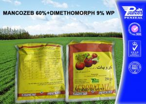 China Mancozeb 60% + Dimethomorph 9% WP Pesticide Mixtures Local Systemic Fungicide on sale