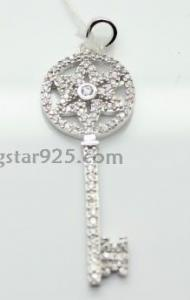 China silver key pendant, manufacture 925 silver pendant on sale
