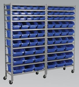 China Bin Storage Commercial Wire Shelving System 10 Shelves With 5 Inch Caster on sale