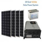 4kw Off Grid Solar Generator System 4unit Battery Home Solar Battery Systems