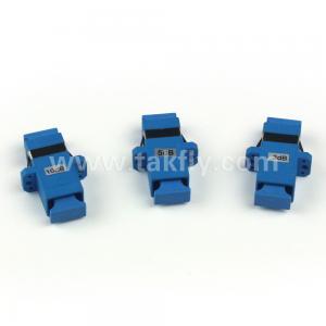 China SC APC UPC Plastics fixed type fiber optic attenuators 0-25dB on sale