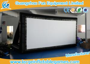 China Logo Black Color Inflatable Projector Screen / Moive Screen For Outdoor And Indoor on sale