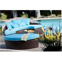 Modern Resin Wicker Garden Leisure Furniture Outdoor Rattan Daybed / Oval Bed