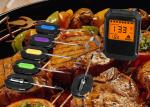 Timer Function Bluetooth Grill Thermometer With Max 6 Probes Eco - Friendly ABS Case