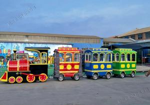 China Amusement Park Trackless Kiddie Train 14P Electric Tourist Train 2200w / 60V on sale