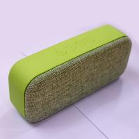 stereo portable mini bluetooth speaker fabric cover hands-free wireless with fm