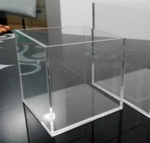 Large Clear Solid Acrylic Storage Container Box With Flexible Lid