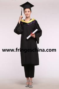 China Custom College/University Graduation Gown-100% Matte Polyester Customized Graduation Gown on sale