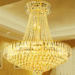 ホテルのための大きい金そして水晶のシャンデリアは写し出します照明設備(WH-NC-13)を